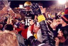 Jeremy Bloom celebrating with CU fans
