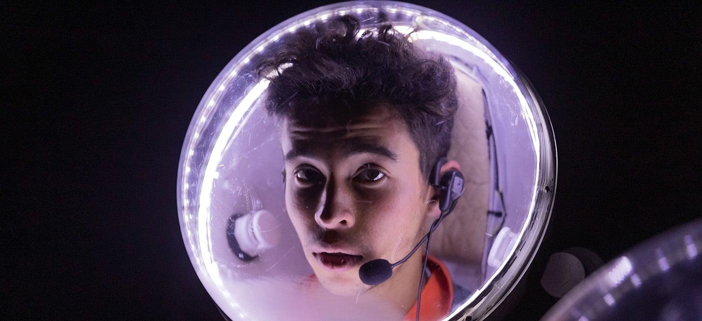 Glowing helmet