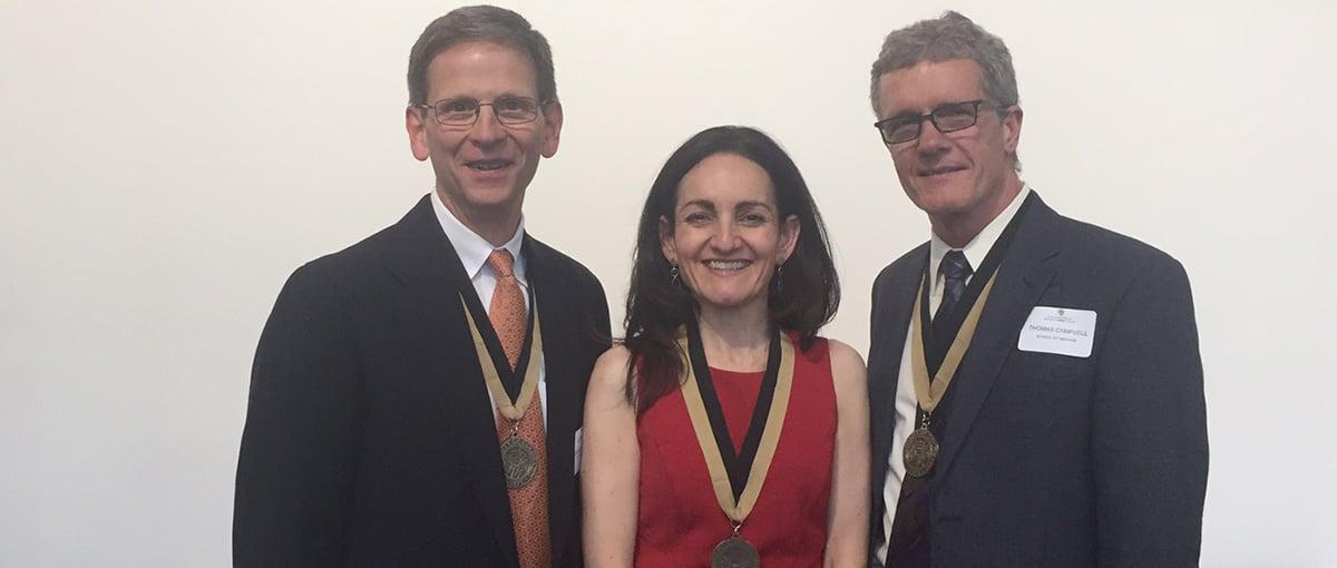 (from left) Robert McIntyre, Isabel Schlaepfer, Thomas Campbell