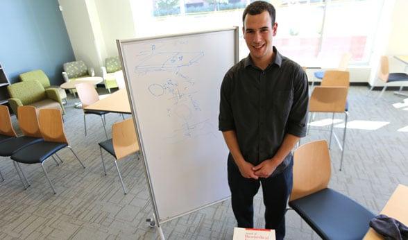 Adam Rauff in Bioscience 2 building