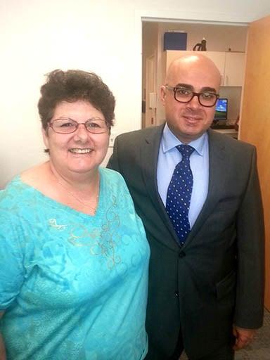 Liz Calise and CU Anschutz's Dr. Samy Youssef