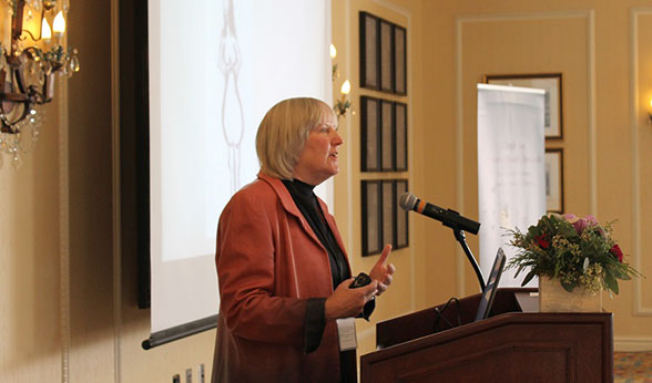 Wendy Kohrt speaks at CWHR conference