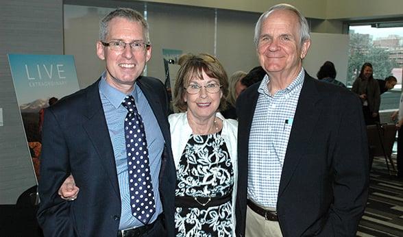 Dr. Camidge at cancer survivor party