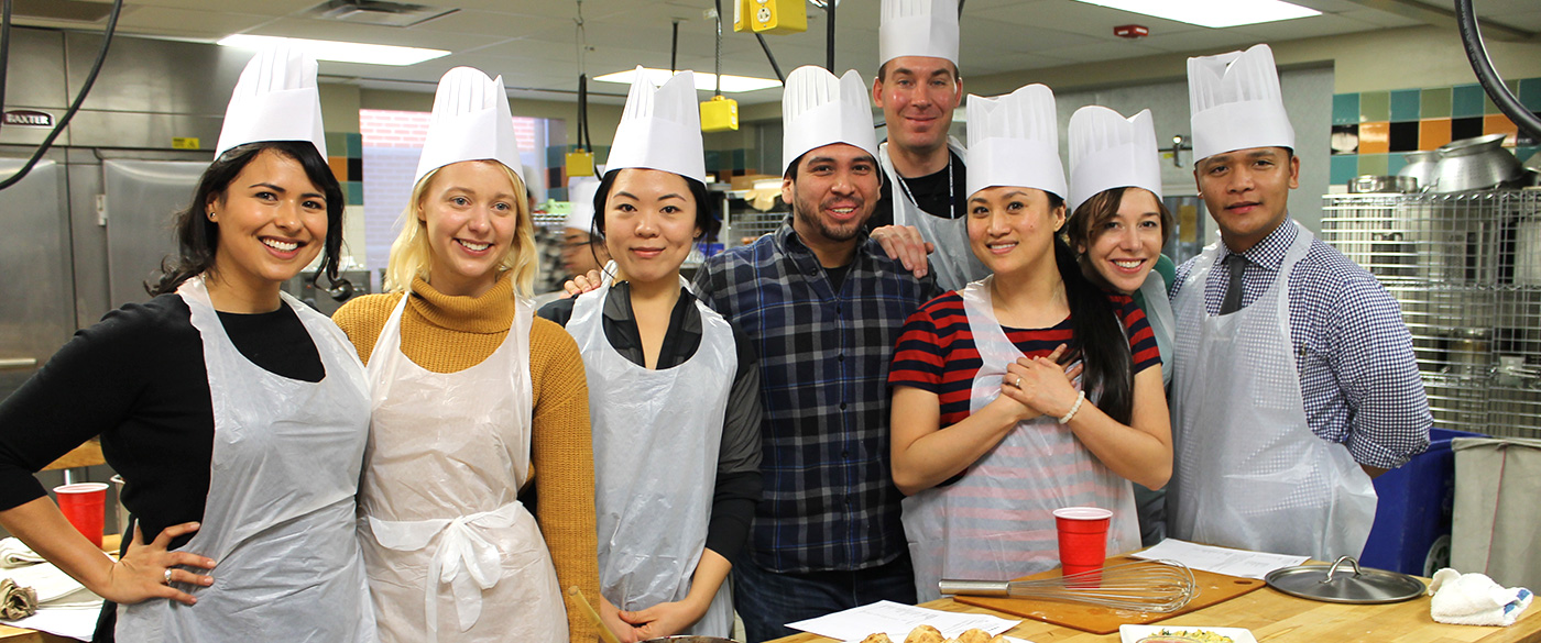 Students from the Culinary Medicine/Culinary Dentistry present a meal they prepared