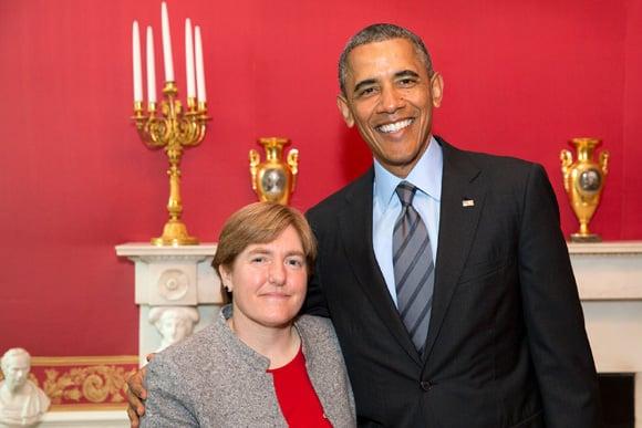 Dawn Comstock, PhD, and President Barack Obama