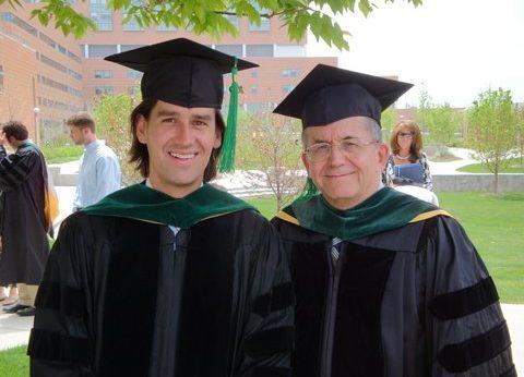 Drs. Vance at CU medical school graduation