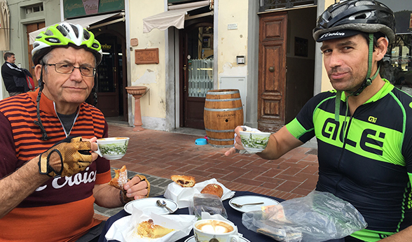 Drs. Vance sip cappuccinos in Italy