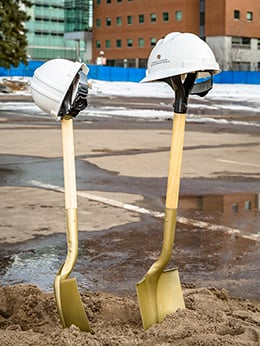 Shovels at groundbreaking