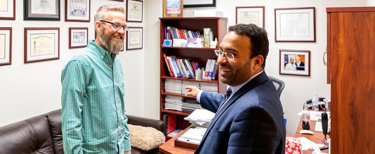 Brian McNeill and Muhammad Aftab