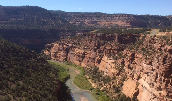 San Miguel River canyon