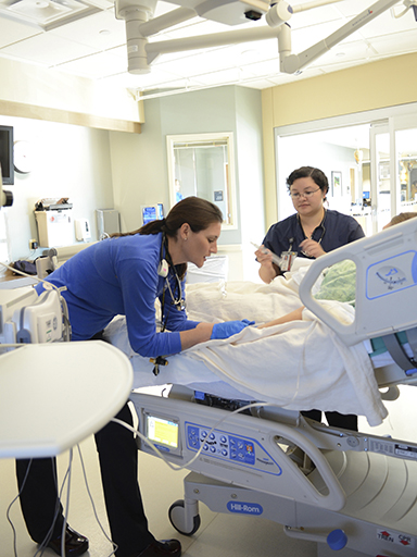 Simulation laboratory for CU College of Nursing students