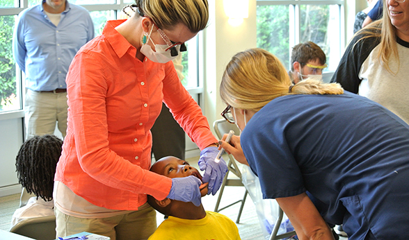 CU School of Dental Medicine outreach free screening