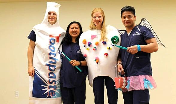 CU School of Dental Medicine students volunteer at free screening.