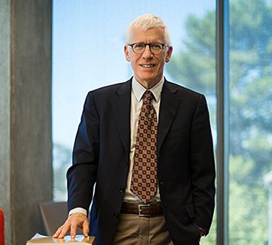 Jonathan Samet at his desk