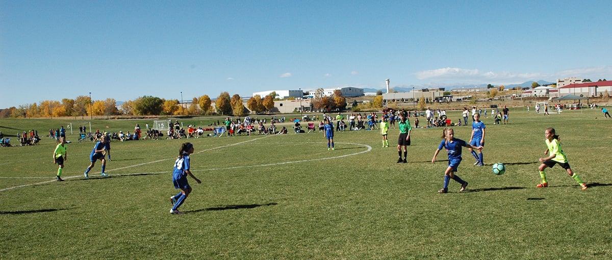 Storm soccer at Dove Valley Regional Park