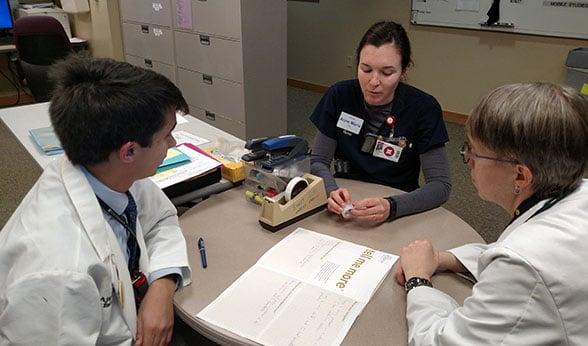 TMM team meets with nurse