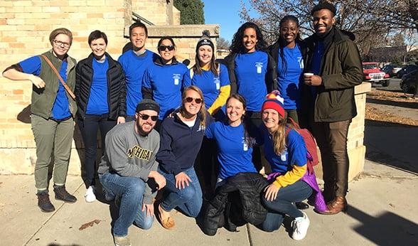 CU Anschutz student volunteers