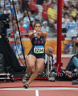 Loree Thornton swinging her hammer